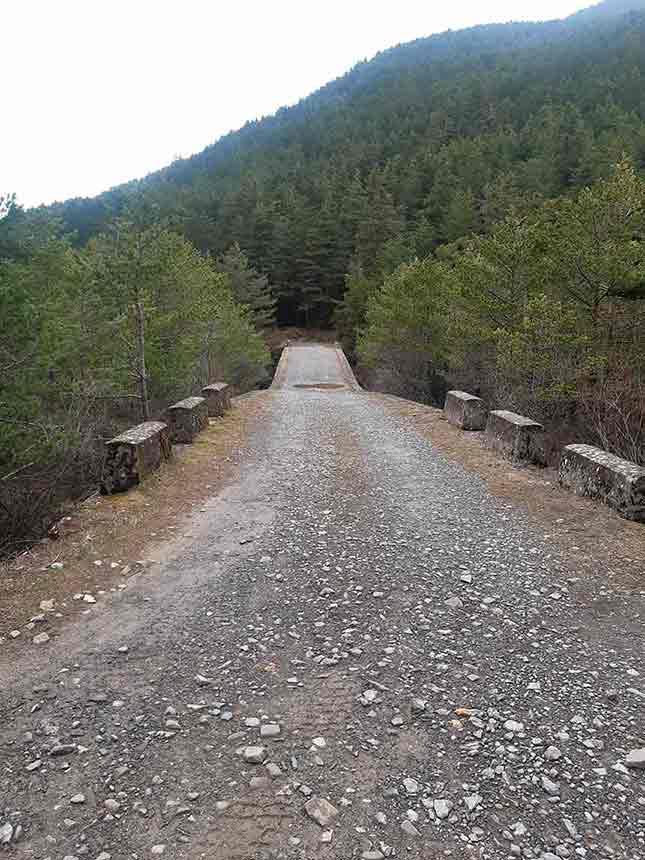 Puente sobre el barranco de Bozuelo regresando desde la Fuente del Paco