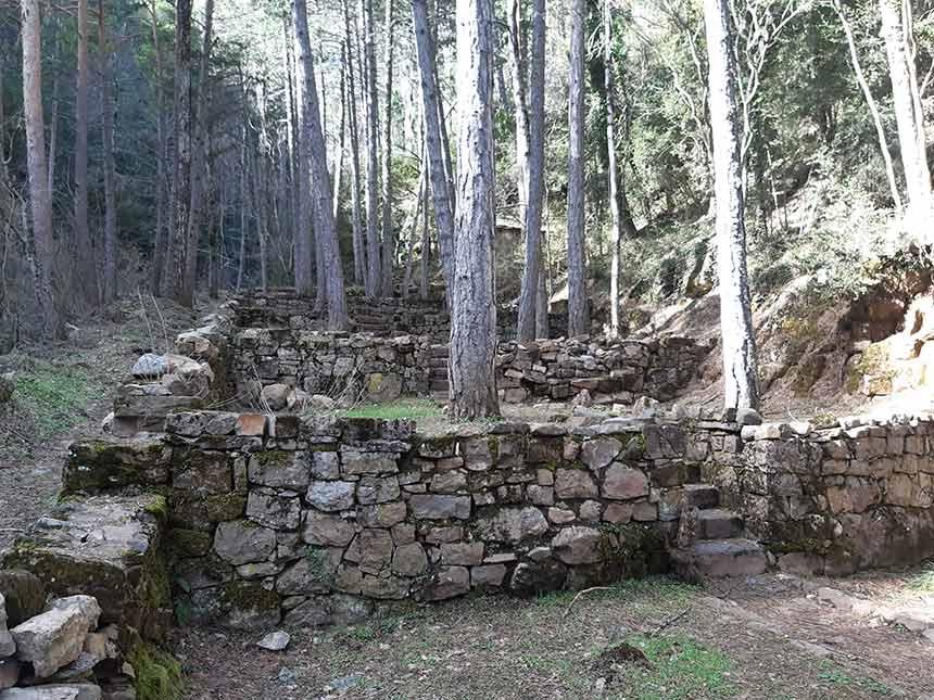 Antiguo invernadero en el sendero de Gabardito