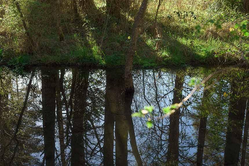 Espejo de agua en Los Rigales de Villanúa